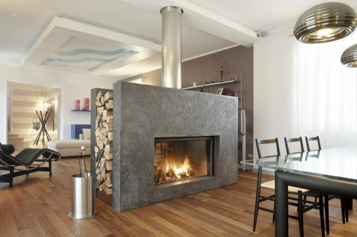avantages-de-la-cheminée-centrale-à-foyer-fermé-centre-salle-de-séjour-moderne