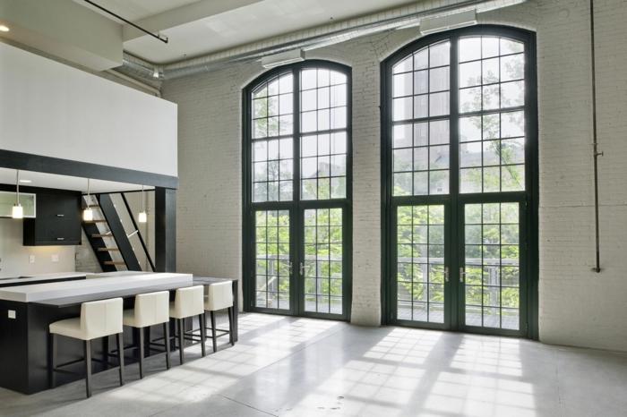 baie-vitrée-fixe-ou-porte-fenetre-maison-contemporaine-contémporaine-cuisine
