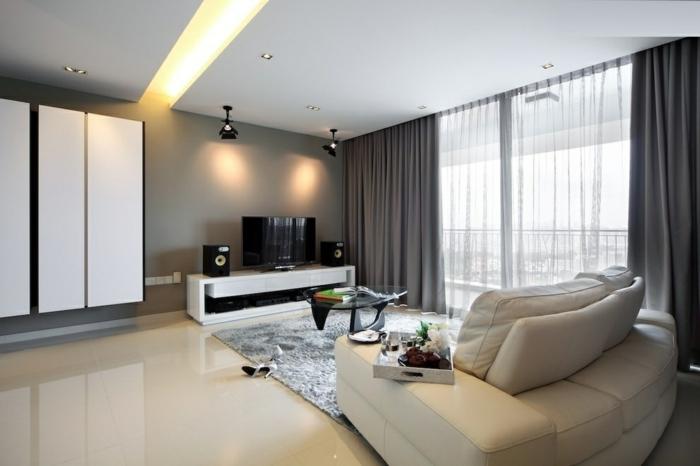 baie-vitrée-fixe-ou-porte-fenetre-maison-contemporaine-salle-de-séjour-moderne-lux