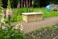 Le banc coffre de jardin – belles idées pour votre jardin