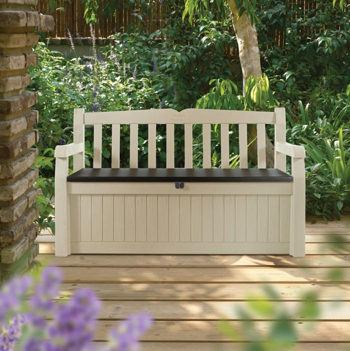 le banc coffre de jardin belles id es pour votre jardin. Black Bedroom Furniture Sets. Home Design Ideas