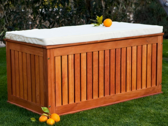 Banc Bois Exterieur Plan : Wood Outdoor Storage Benches