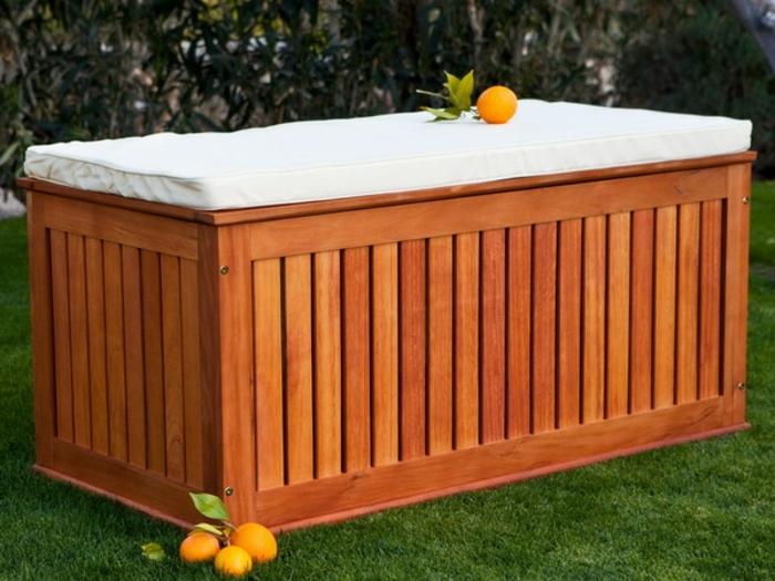 Le banc coffre de jardin belles id es pour votre jardin Coffre terrasse bois