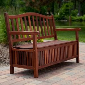 Le banc coffre de jardin - belles idées pour votre jardin