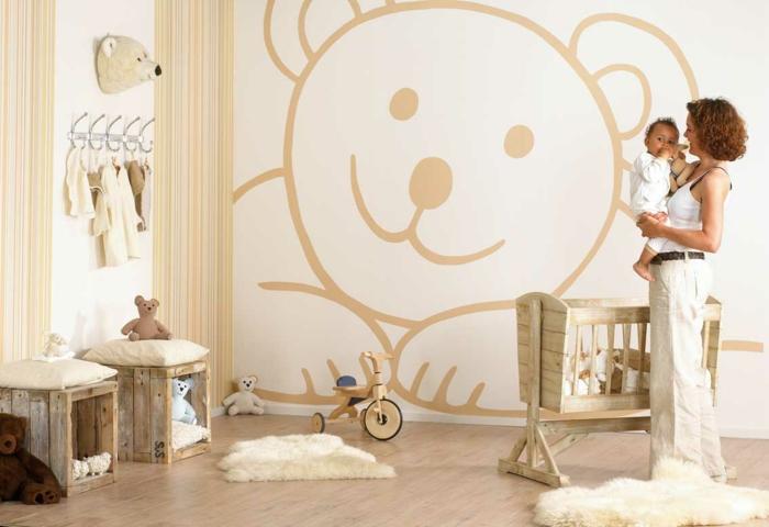 beige-chambre-bébé-mixte-design-intérieur-aménagement-chambre-ourson