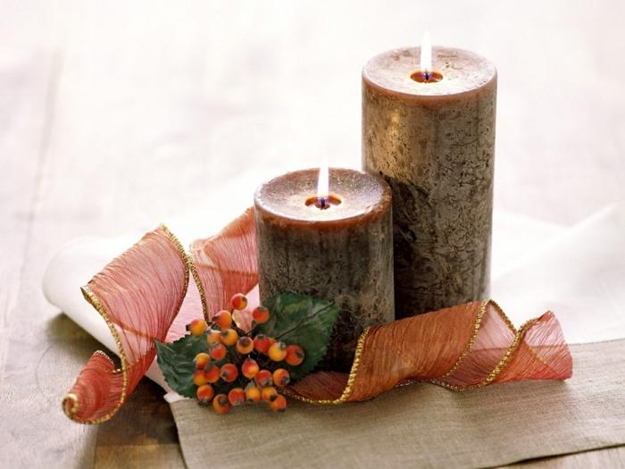 La bougie de Noël - un joli moyen pour décorer la maison - Archzine.fr