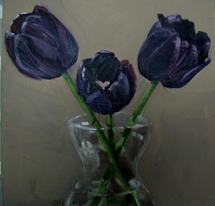 belle-nature-tulipes-noires-fantastiques-photo-tulipe-nature-morte-peinture-vase-fleurs