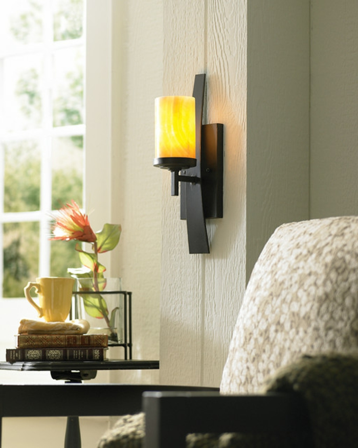 42 id es de d coration avec le photophore mural. Black Bedroom Furniture Sets. Home Design Ideas