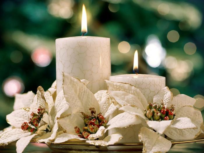 bougies-de-noel-couronne-de-noël-originale-blanc-beau