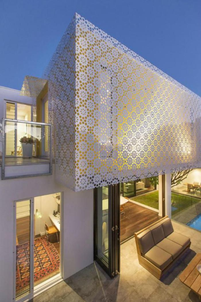 Faade Maison Design. Maison Bois Toit Plat Elegant Facade De Maison ...