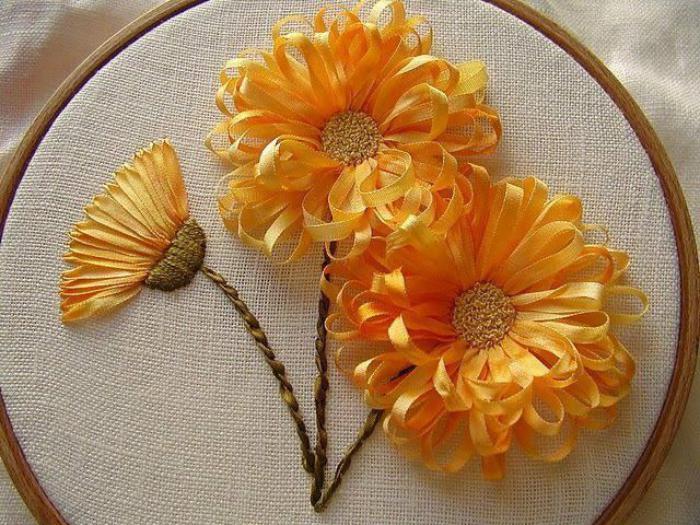broderie-au-ruban-tambour-de-broderie-et-fleurs-jaunes