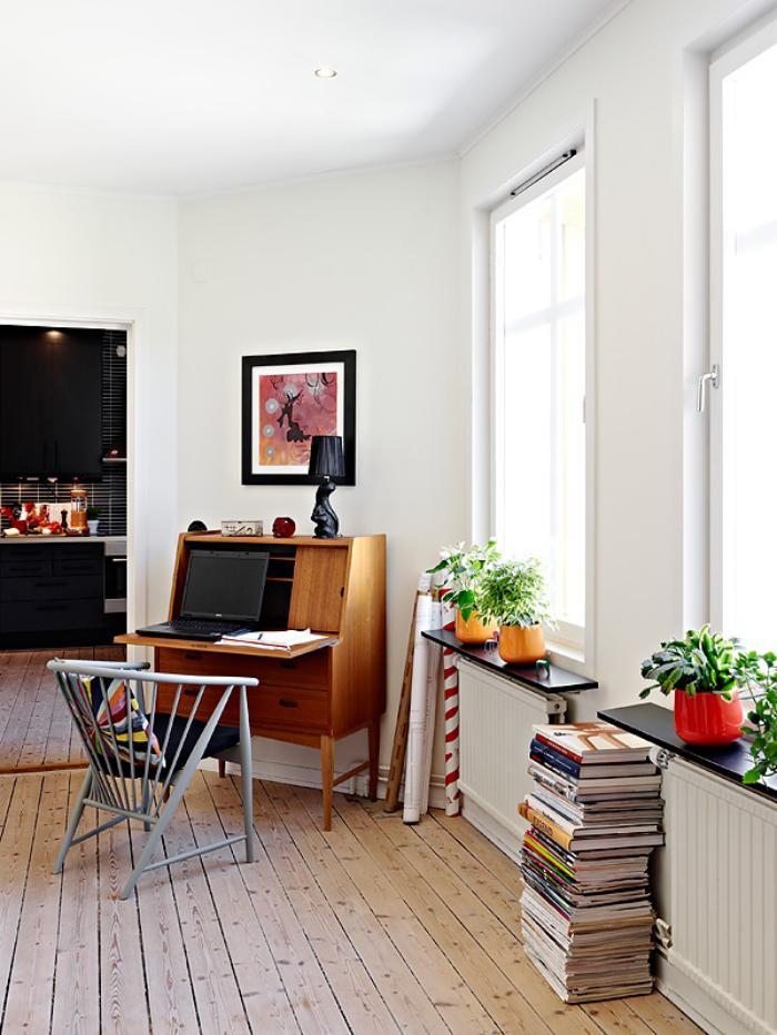 bureau-secrétaire-appartement-scandinave-et-bureau-style-secrétaire