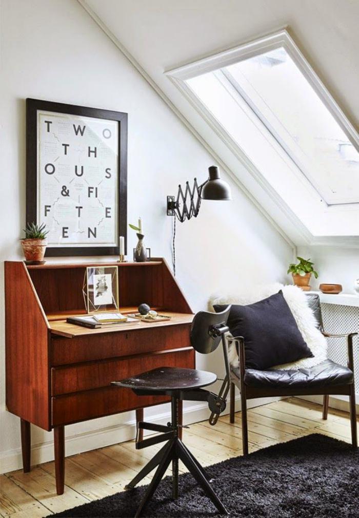 bureau-secrétaire-avec-abattant-chaise-de-bureau