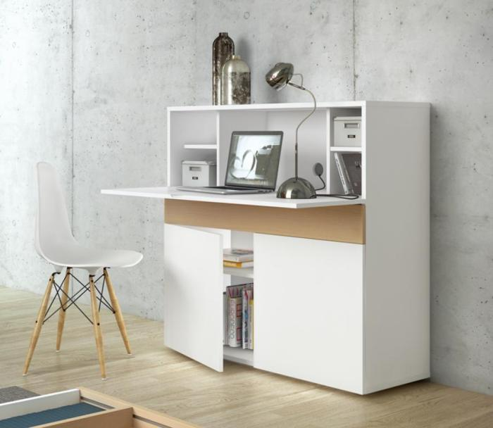 bureau-secrétaire-blanc-design-moderne-placard-et-rangement