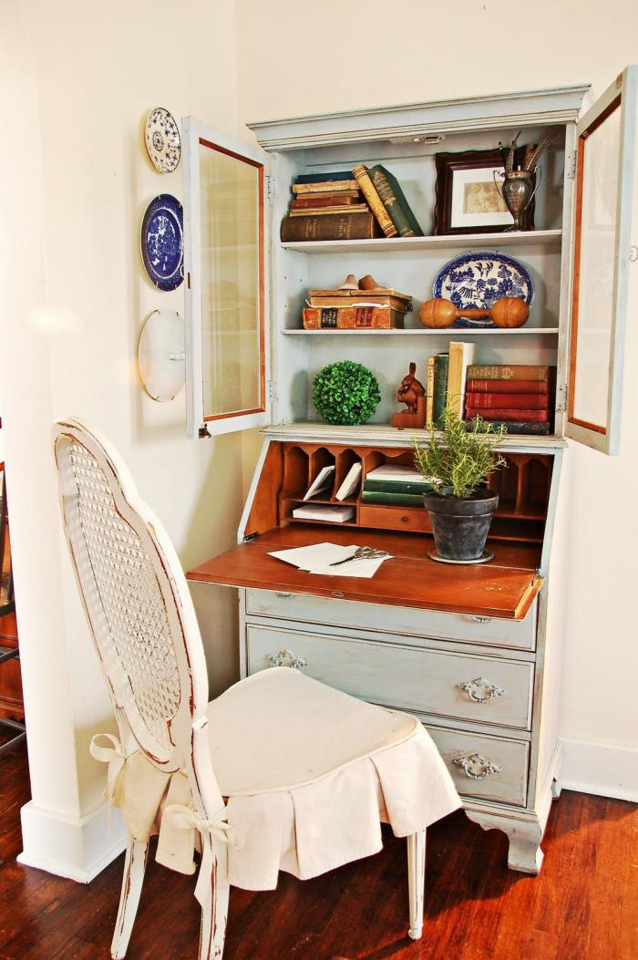 bureau-secrétaire-bureau-de-style-vintage-table-à-écrire