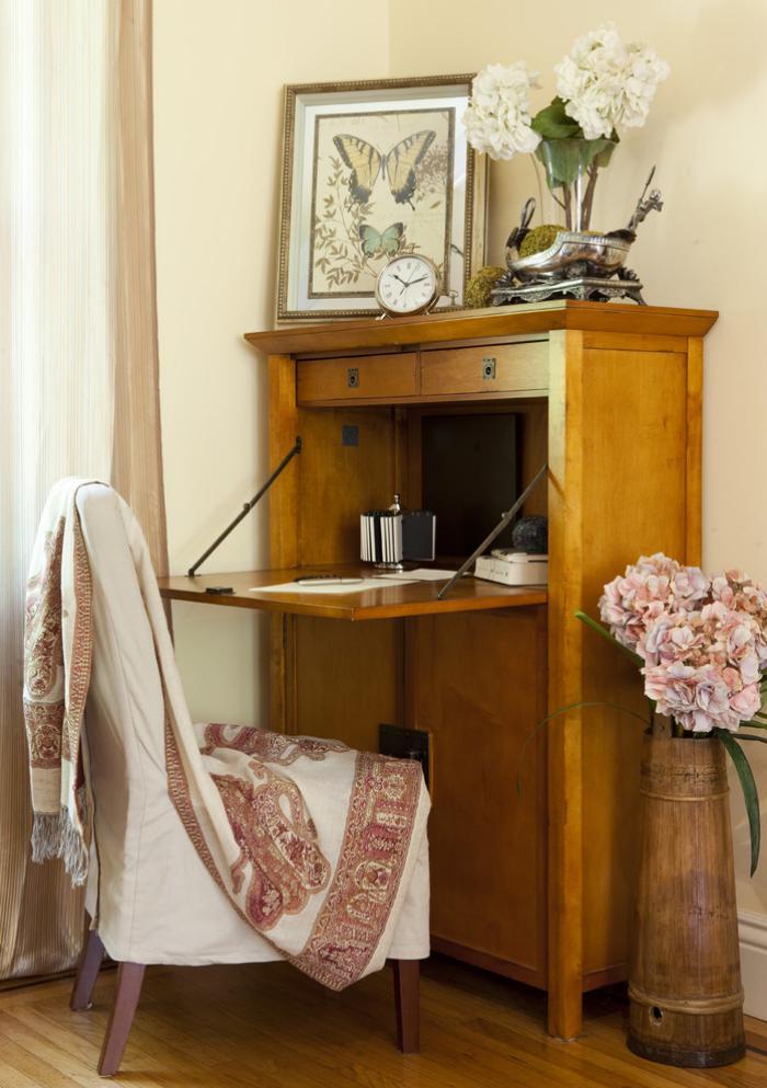 bureau-secrétaire-idées-déco-pour-l'office-à-la-maison