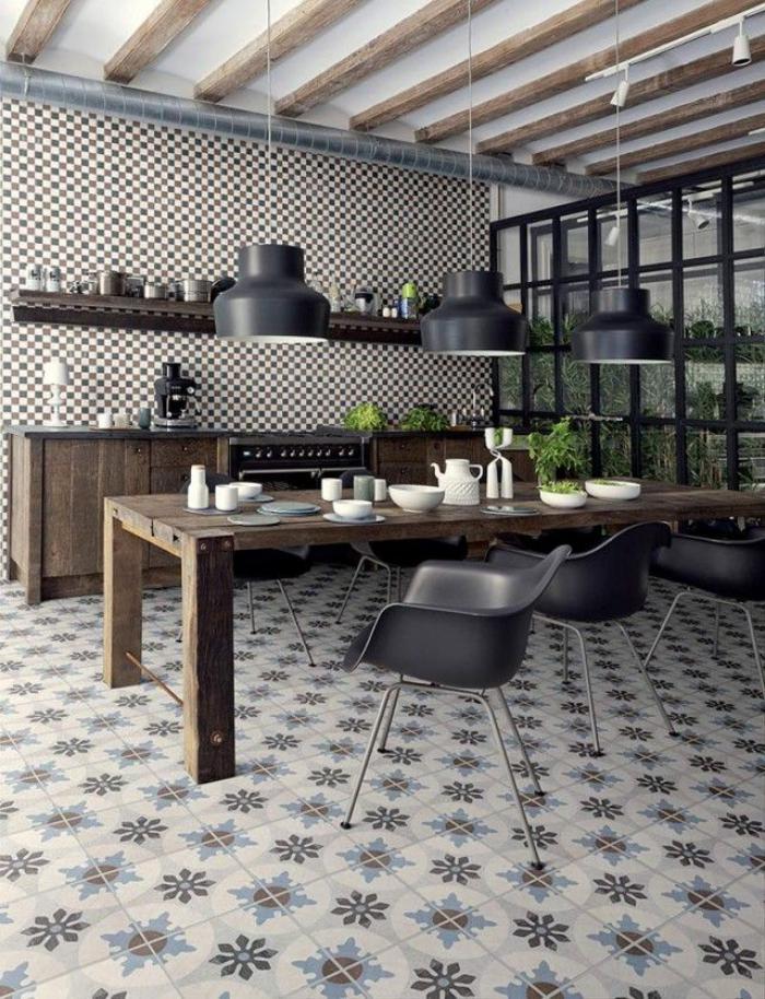 carreaux-de-ciment-cuisine-style-loft-spacieuse