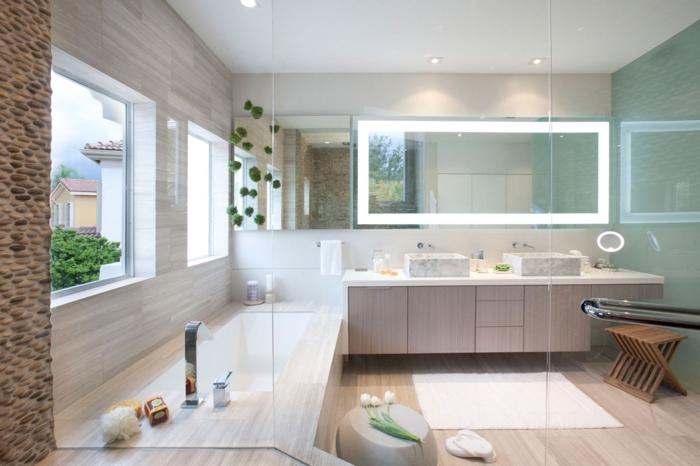 carrelage-de-salle-de-bain-carrelage-idée-inspiration-beige-fleurs