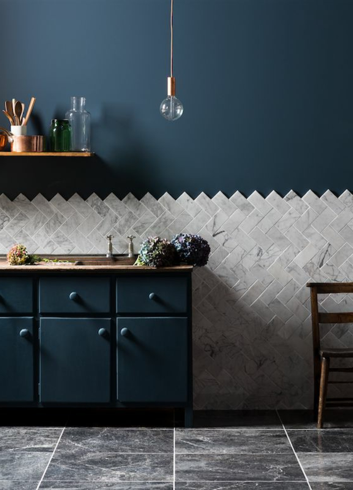 Cuisine Mur Bleu. Fabulous Full Size Of Design Duintrieur De ...