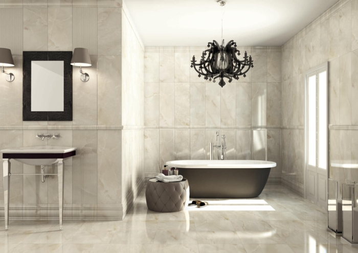 Le carrelage salle de bain quelles sont les meilleures - Carrelage adhesif mural salle de bain ...