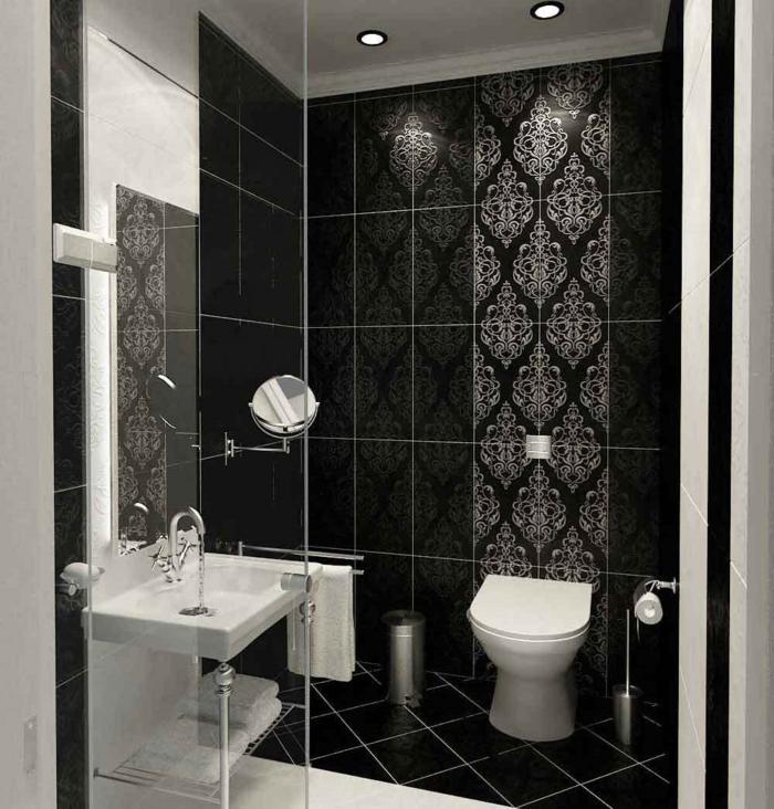 Le carrelage salle de bain quelles sont les meilleures - Carrelage noir brillant salle de bain ...