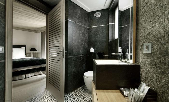 carrelage-sol-salle-de-bain-aménagement-luxueuse-le-noir
