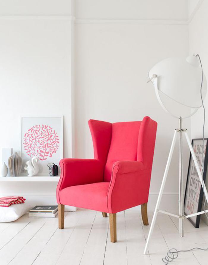 chaise-scandinave-fauteuil-scandinave-bois-et-tissu-rose