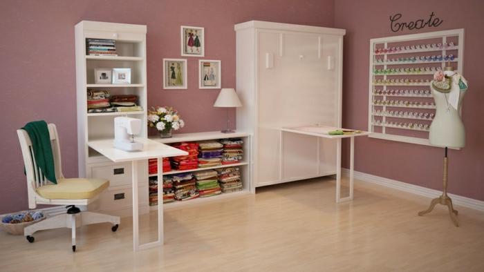 chambre-à-coucher-lit-griffon-pièce-design-intérieur-mur-rose