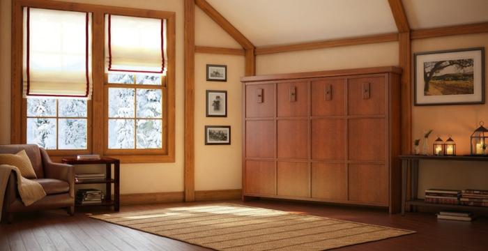 chambre-à-coucher-lit-griffon-pièce-design-intérieur-unique-rustique