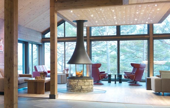 cheminée-centrale-cheminée-design-intérieur-idées-cintémporaine