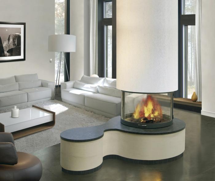 cheminée-centrale-cheminée-design-intérieur-idées-le-feu
