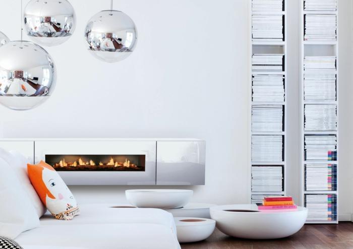 cheminée-centrale-cheminée-design-intérieur-idées-tout-en-blanc