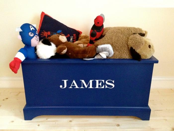 Le coffre jouets id es d coration chambre enfant - Coffre a jouet personnalise ...