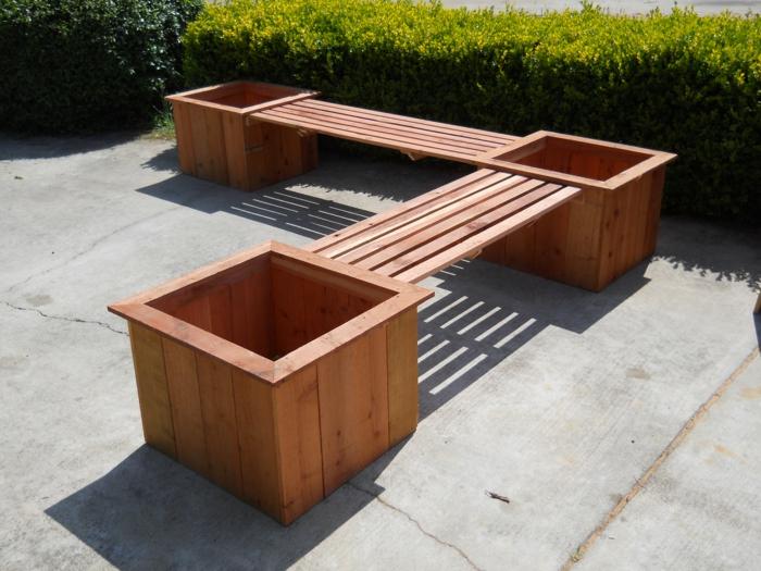 Le banc coffre de jardin belles id es pour votre jardin - Plan pour fabriquer un banc de jardin ...