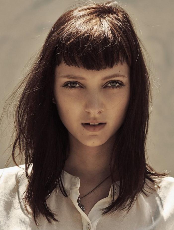 Comment porter la coiffure avec frange?