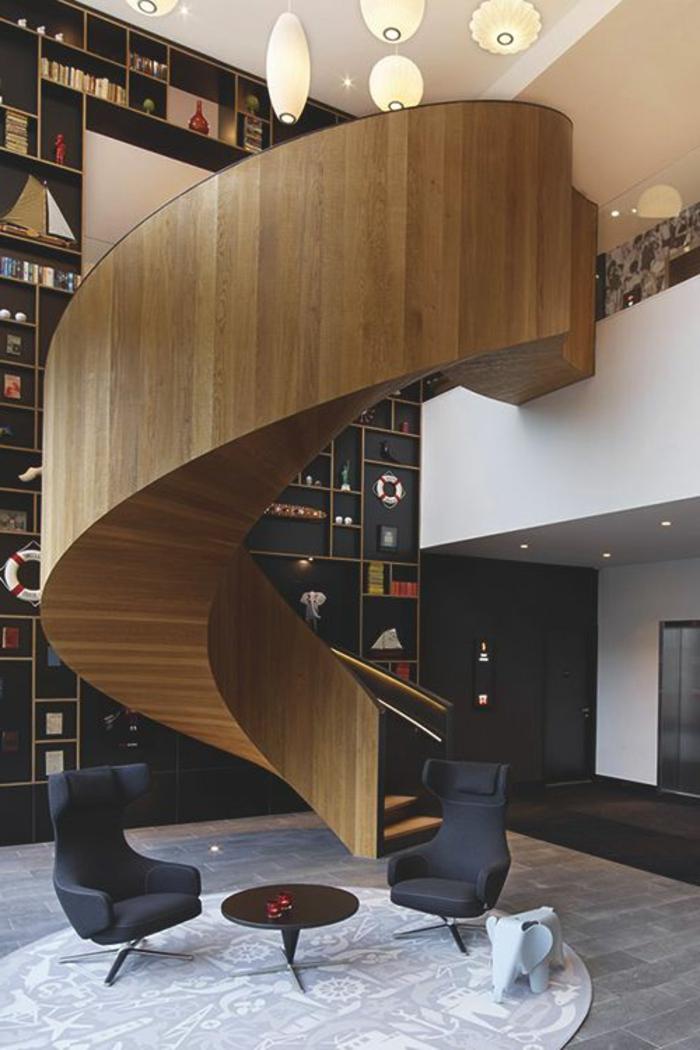 comment-fabriquer-escalier-tournant-en-bois-pour-le-salon-d-esprit-loft-retro-chic