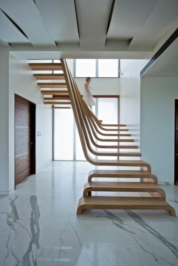 comment-fabriquer-un-escalier-en-bois-dans-le-couloir-moderne-avec-sol-en-beton-laqué
