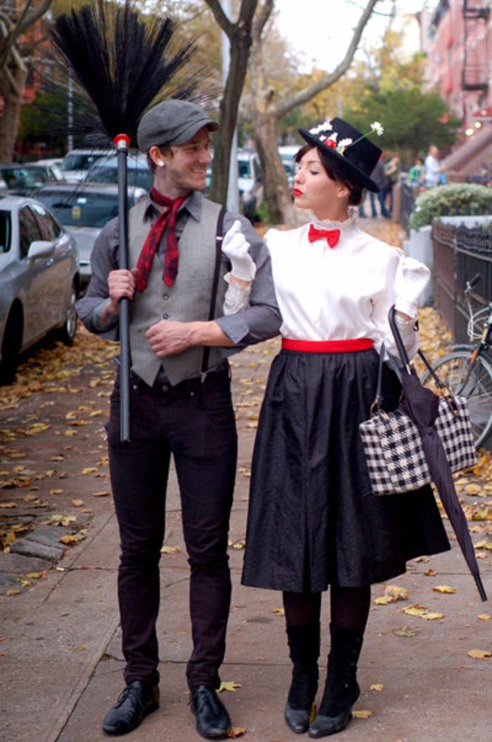 comment-se-déguiser-pour-Toussaint-déguisement-de-halloween-coutume-couple-vintage