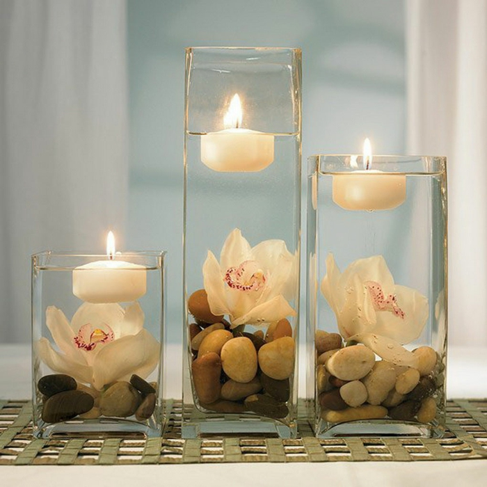 décoration-avec-bougie-orchidée