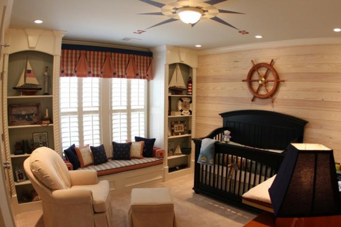décoration-chambre-bébé-fille-comment-décorer-lits-à-barreaux-bateau