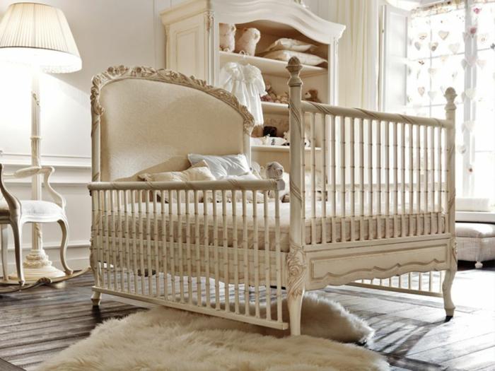 décoration-chambre-bébé-fille-comment-décorer-lits-à-barreaux-lux