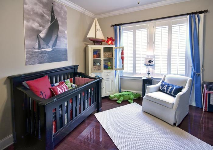décoration-chambre-bébé-fille-comment-décorer-lits-à-barreaux-mer
