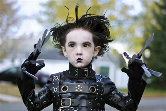 déguisement-femme-halloween-idées-déguisement-halloween-edward-johnny-depp