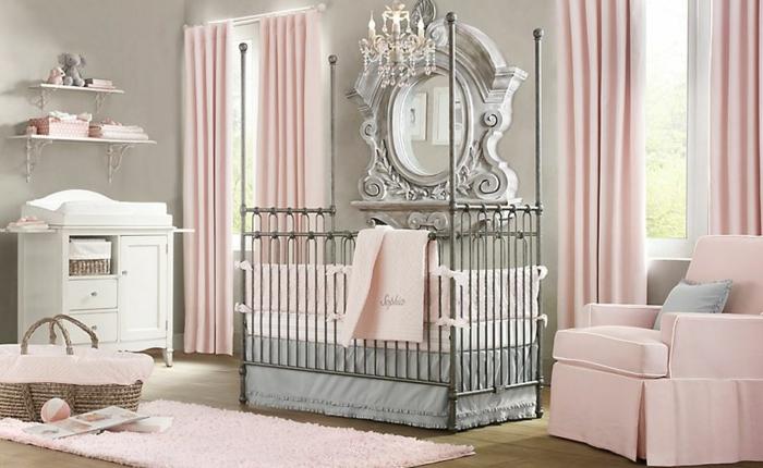 deco-chambre-bebe-fille-belle-en-couleur-idées-originalies-beauté