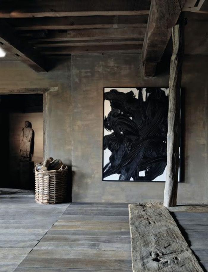 decoration-avec-poutre-bois-massif-pour-l-interieur-contemporain-de-style-rustique