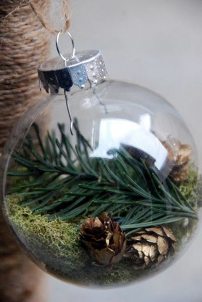 Boule Transparente Verre Idee Decoration