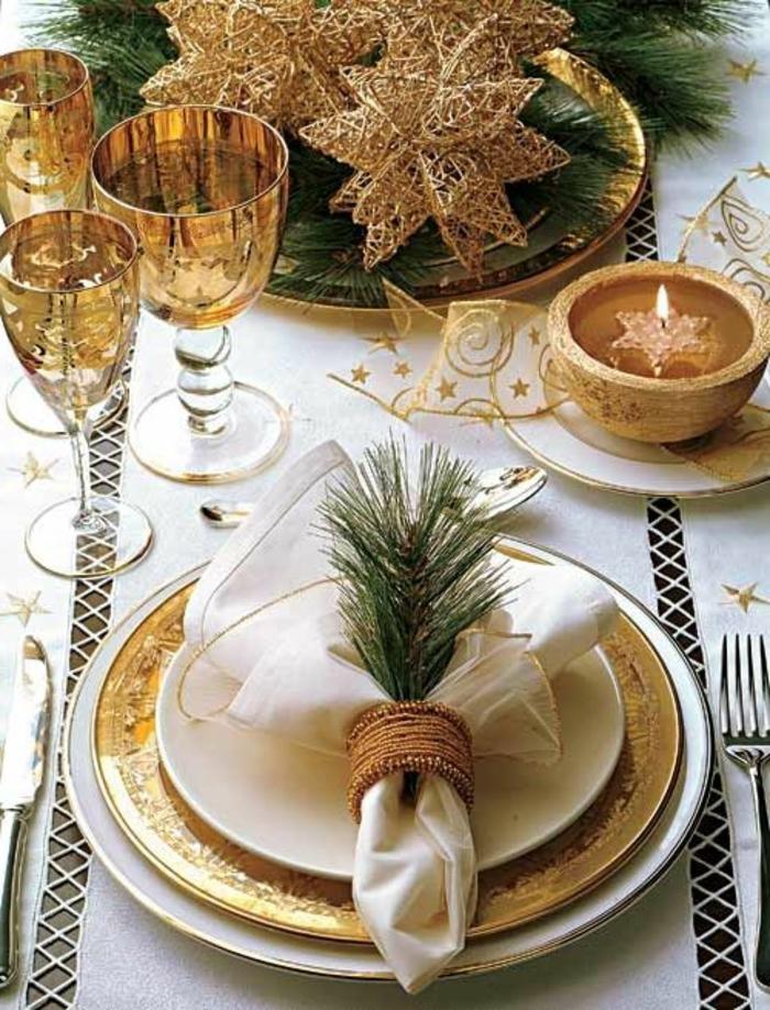 Decoration Table Noel Avec Branche Sapin
