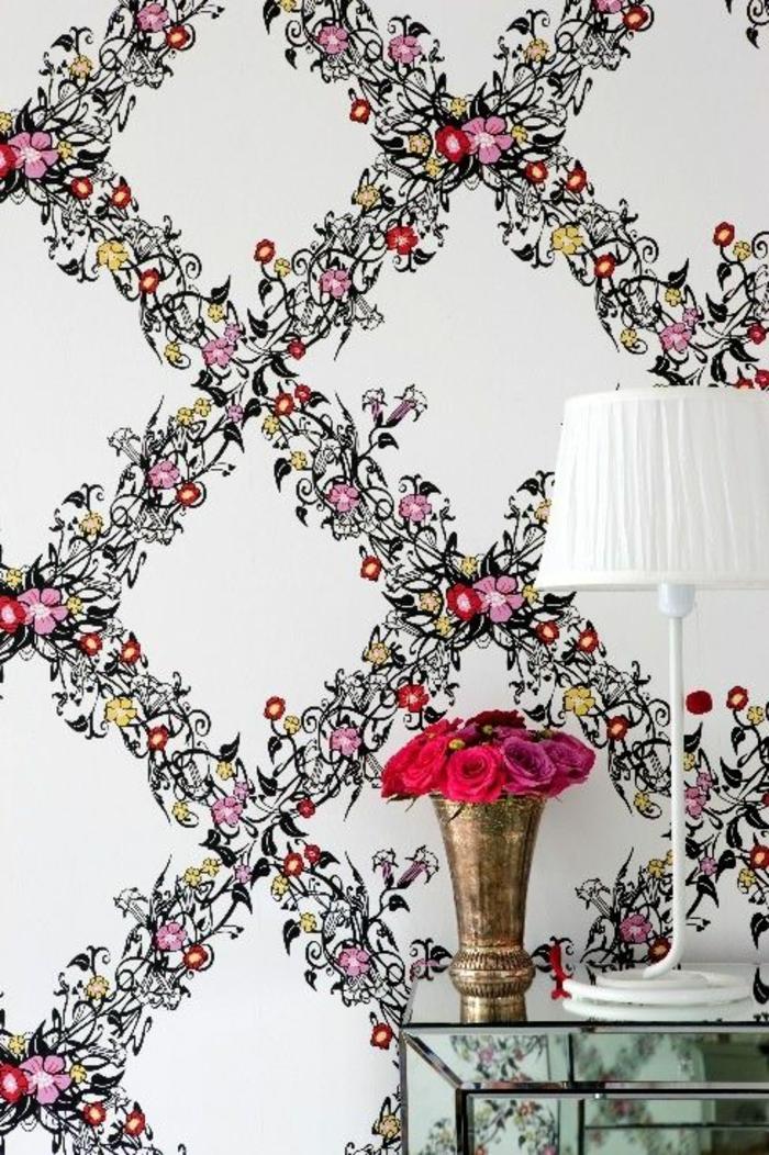 le papier peint en 52 photos pleines d 39 id es. Black Bedroom Furniture Sets. Home Design Ideas