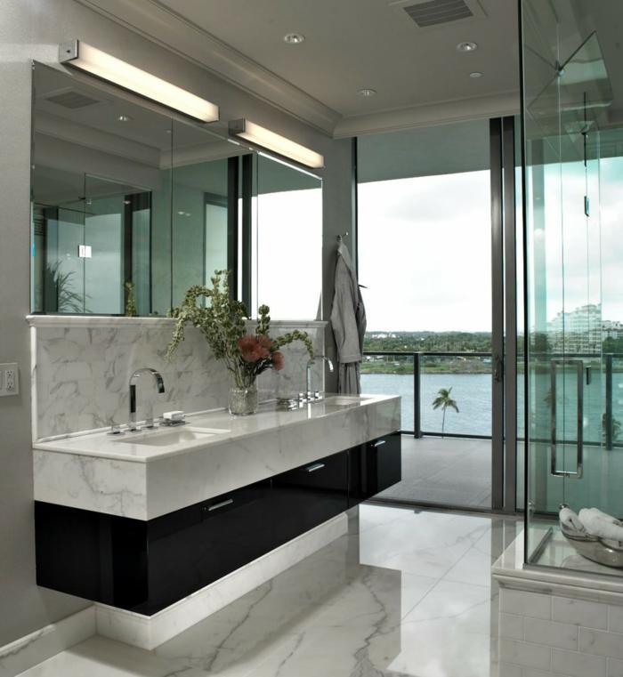 des-meuble-salle-de-bain-double-vasque-gris-idées-originales-balcon-marbre