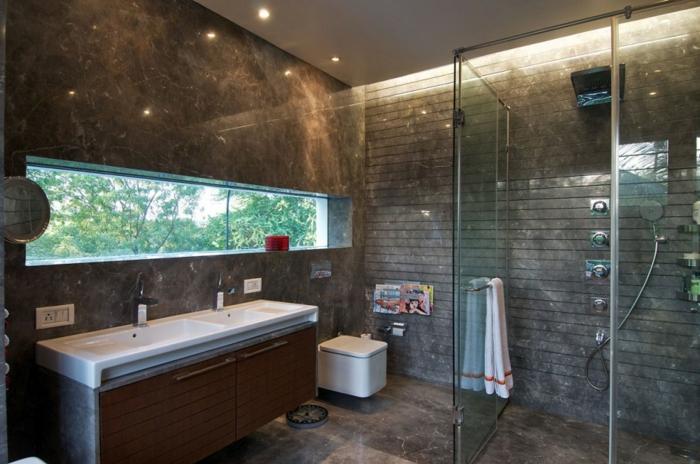 des-meuble-salle-de-bain-double-vasque-gris-idées-originales-douche-cabine